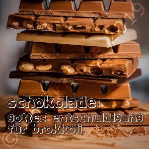Schokolade und Brokkoli